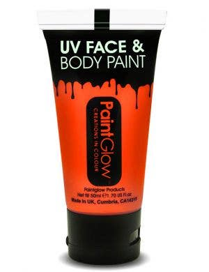 Large Size Neon Orange Blacklight Reactive Costume Makeup Main Image