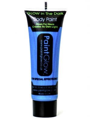 Neon Blue Glow in the Dark Blacklight Reactive Body Paint