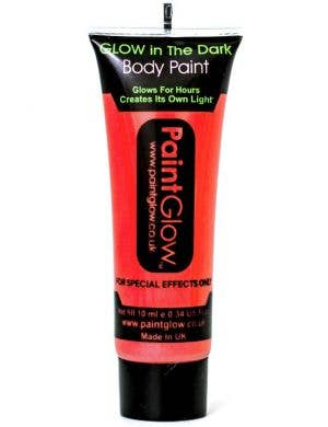 Neon Red Glow in the Dark Blacklight Reactive Body Paint