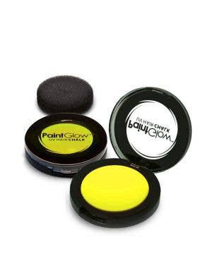 Temporary Neon Yellow Blacklight Reactive Hair Chalk Main Image