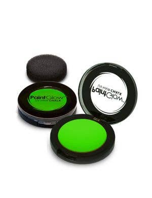 Temporary Neon Green Blacklight Reactive Hair Chalk Main Image