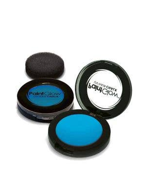 Temporary Neon Blue Blacklight Reactive Hair Chalk Main Image