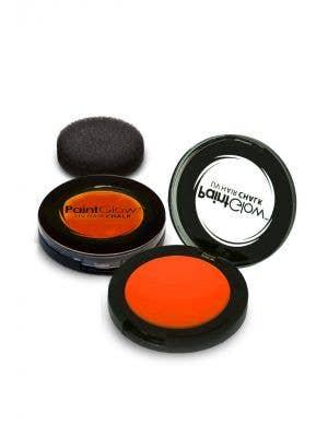 Temporary Neon Orange Blacklight Reactive Hair Chalk Main Image