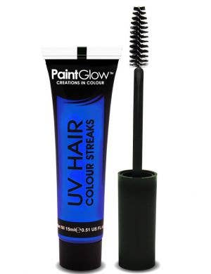Neon Blue Temporary UV Reactive Hair Colour Mascara Main Image