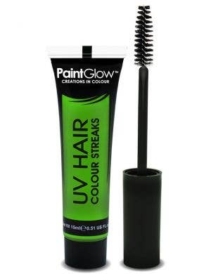 Neon Green Temporary UV Reactive Hair Colour Mascara Main Image