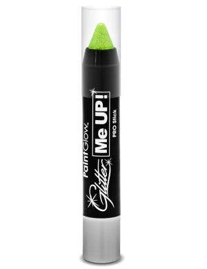 UV Reactive Green Glitter Makeup Stick Main Image