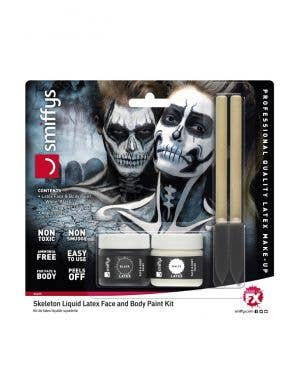 Skeleton Liquid Latex Face And Body Paint Kit