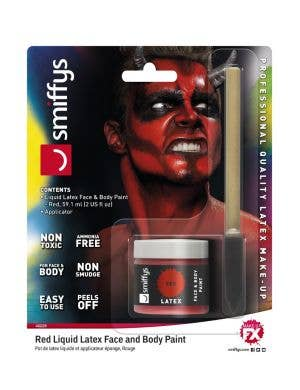 Liquid Latex Face and Body Paint - Red