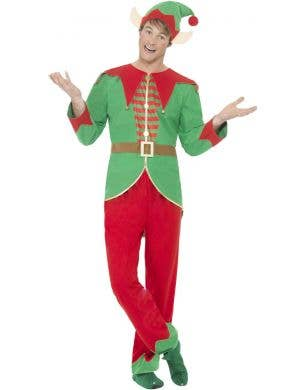 Jolly Christmas Elf Men's Fancy Dress Costume