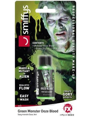236ml Bottle of Runny Green Monster Ooze Blood Halloween Special Effects