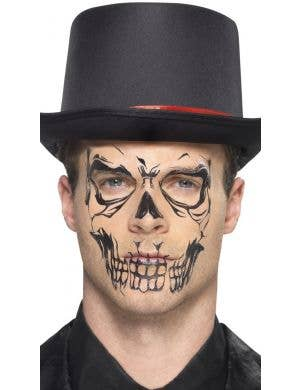 Skeleton Face Tattoo Transfers Makeup Kit