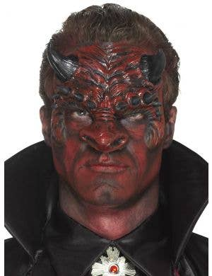 Devil Head Red Latex Special FX Costume Prosthetic