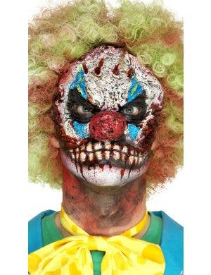 Creepy Clown Halloween Half Face Prosthetic