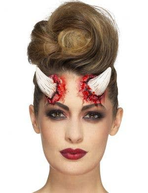 Erupting Latex Ivory Devil Horns Special FX Prosthetics
