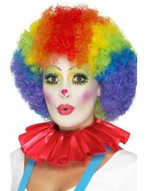 Clown Ruffled Red Neck Collar Costume Accessory