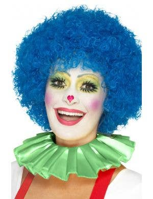 Clown Ruffled Green Neck Collar Costume Accessory