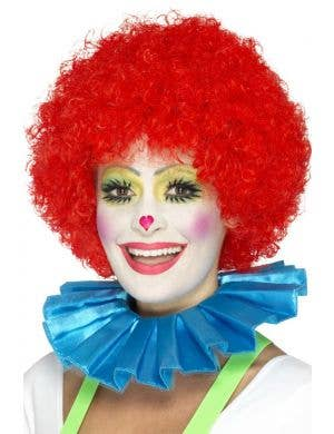 Clown Ruffled Blue Neck Collar Costume Accessory