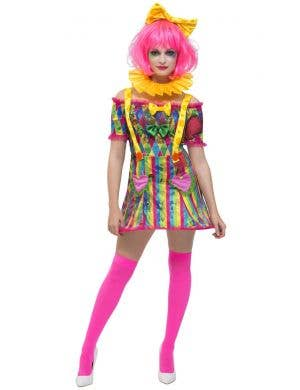 Patchwork Clown Women's Fancy Dress Costume
