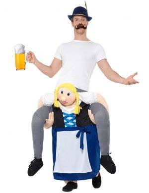 Funny Adult's Oktoberfest Piggyback Bavarian Beer Maiden Costume