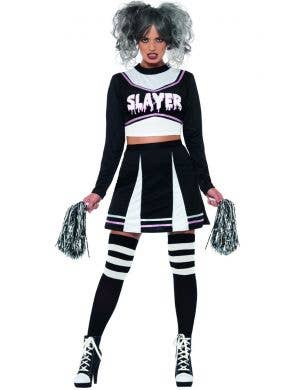 Slayer Gothic Cheerleader Sexy Women's Halloween Costume