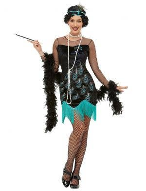 1920's Peacock Flapper Women's Costume