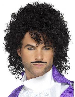1980's Purple Musician Men's Prince Costume Wig