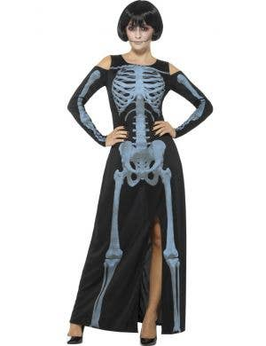 X-Ray Skeleton Women's Halloween Fancy Dress Costume