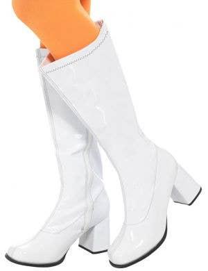 1960's White Patent Women's Go Go Boots