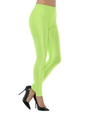 1980's Neon Green Spandex Women's Costume Leggings