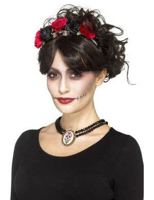 Day Of The Dead Women's Choker Necklace Costume Accessory