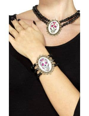 Day of the Dead Beaded Costume Bracelet