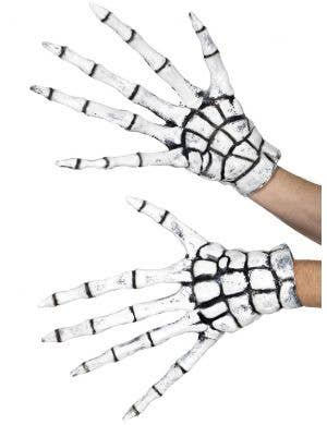 Oversized Adult's Latex Grim Reaper Skeleton Gloves