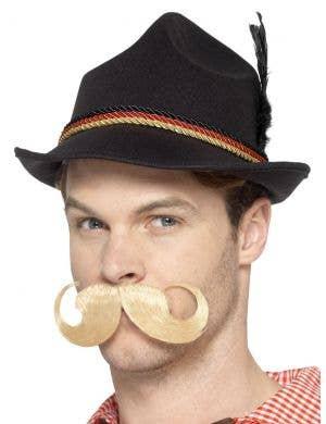 Alpine Men's Black Bavarian Oktoberfest Costume Hat