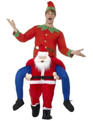 Piggyback Santa Men's Christmas Fancy Dress Costume