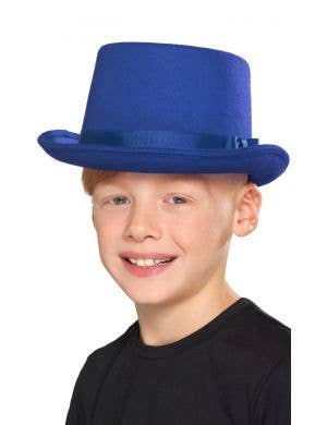 Magician Blue Kid's Top Hat Costume Accessory