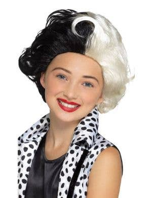 Evil Madame Girl's Cruella De Vil Costume Wig