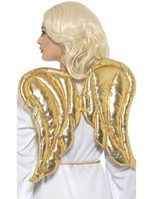 Metallic Gold Angel Wings Costume Accessory