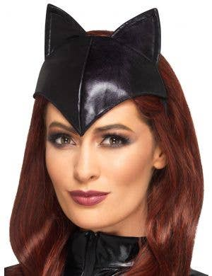 Kitty Fever Metallic Black Cat Headband Costume Accessory