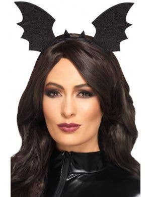 Bat Wing Black Costume Headband