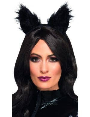 Long Pile Fur Cat Costume Ears