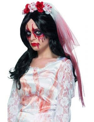 Blood Drip Veil Halloween Costume Accessory