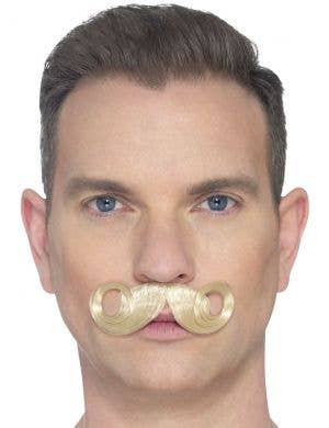 The Imperial Deluxe Blonde Curled Costume Moustache
