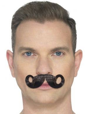 The Imperial Deluxe Brown Curled Costume Moustache