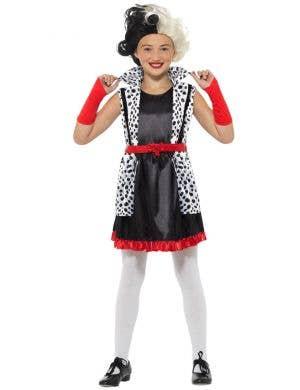 Evil Little Madame Girls Cruella De Vil Costume