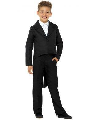 Fancy Black Tailcoat Kids Costume Jacket
