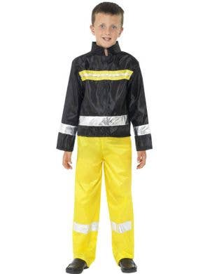 Boy's Fire Fighter Emergency Rescue Book Week Costume Front
