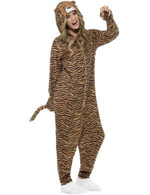 Tiger Adults Animal Onesie Fancy Dress Costume