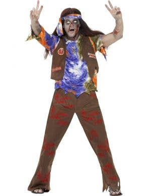 1970's Hippie Men's Zombie Halloween Costume Front