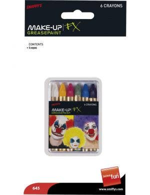 Greasepaint Makeup Crayons - Pack of 6
