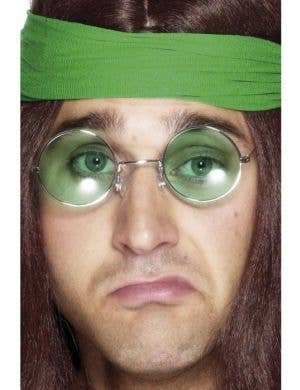 Groovy Baby 70's Hippie Glasses - Green